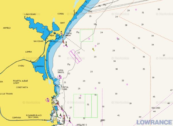 Карта Navionics устье реки Дунай(100 КМ)