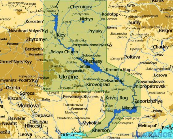 Карта С-МАР Днепр